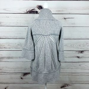 Gray Knitted Circle Cardigan Soft Knitted Sweater